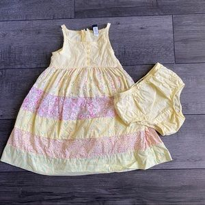 BABY GAP Yellow Floral Sundress